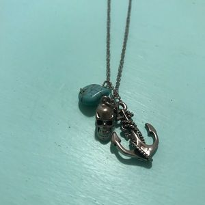 Jewelry - Turquoise Necklace with Skull and Anchor